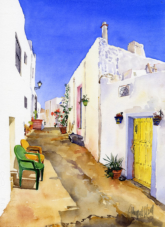 Andalucia Painting - Corner Of Nijar by Margaret Merry