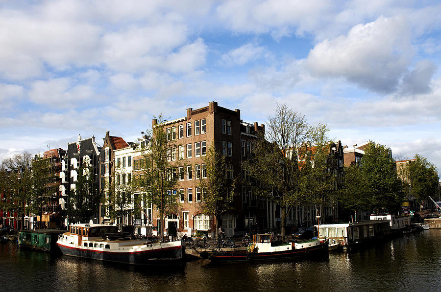 Amsterdam Photograph - Corner Of Prinsengracht And Brouwersgracht by Fabrizio Troiani