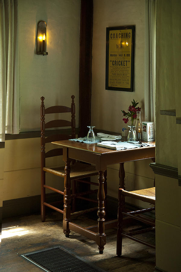 Wayside Inn Photograph - Corner Table by Lee Fortier