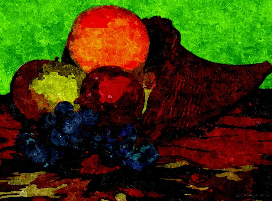 Cornucopia Painting - Cornucopia - Still Life by Lynda K Cole-Smith