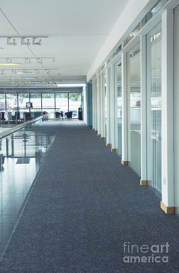 Architecture Photograph - Corridor In A Modern Office by Iain Sarjeant