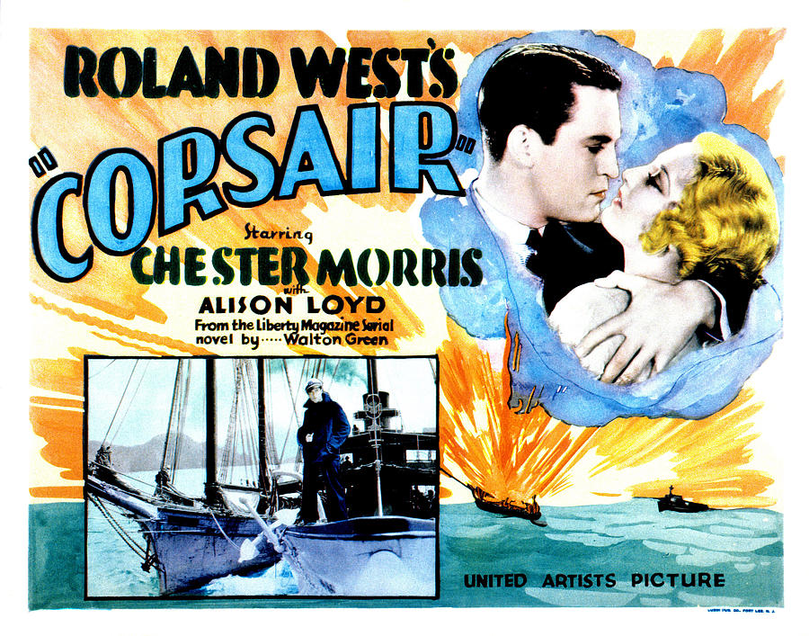 1930s Movies Photograph - Corsair, Chester Morris, Thelma Todd by Everett