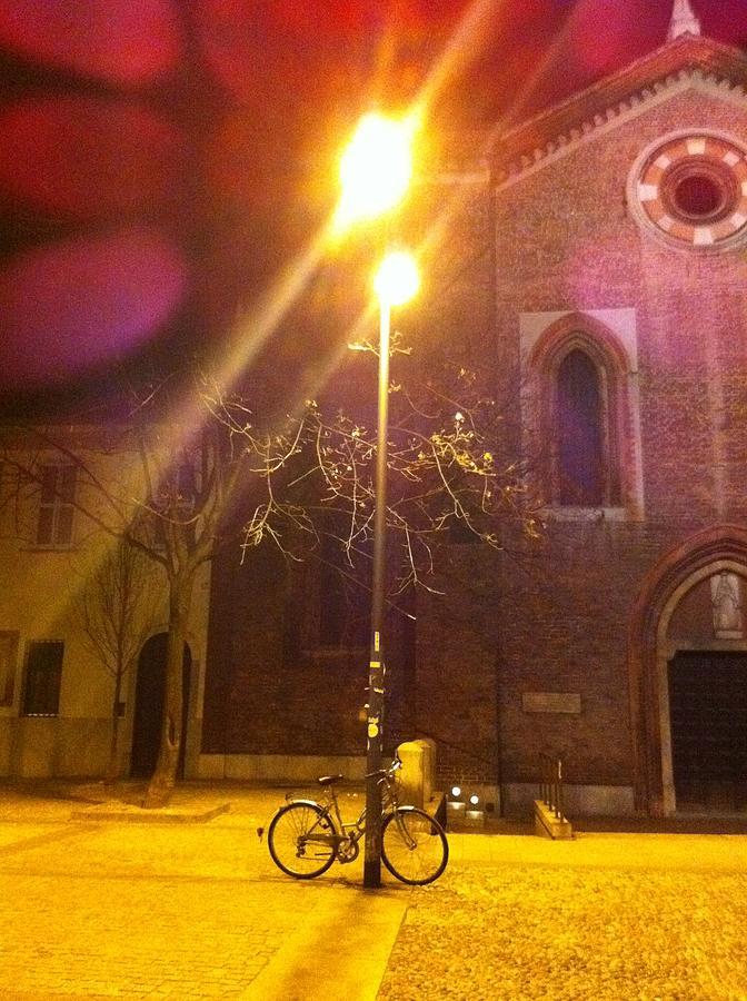 Bike Photograph - Corso Como By Night by Andreia Gomes