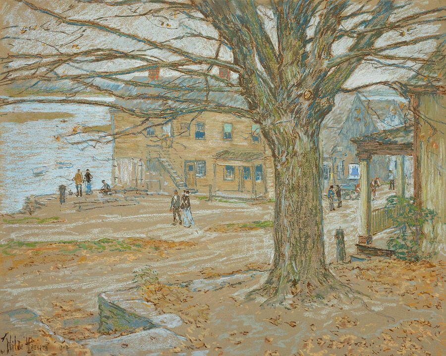 November Pastel - Cos Cob In November by Childe Hassam