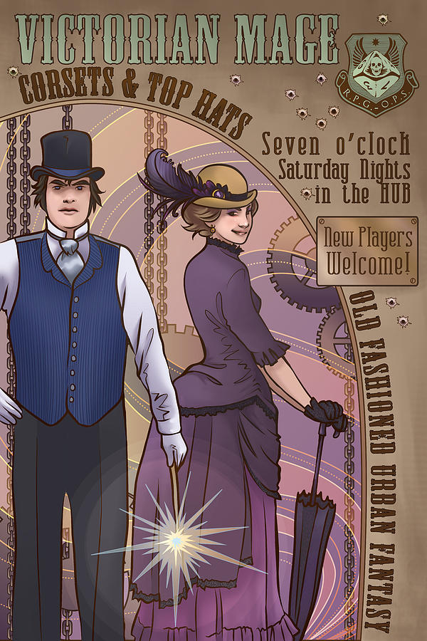 Steampunk Digital Art - Cosets And Top Hats by Dani Kaulakis