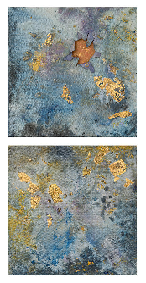Cosmic 25 Diptych Example Painting by Rita Bentley