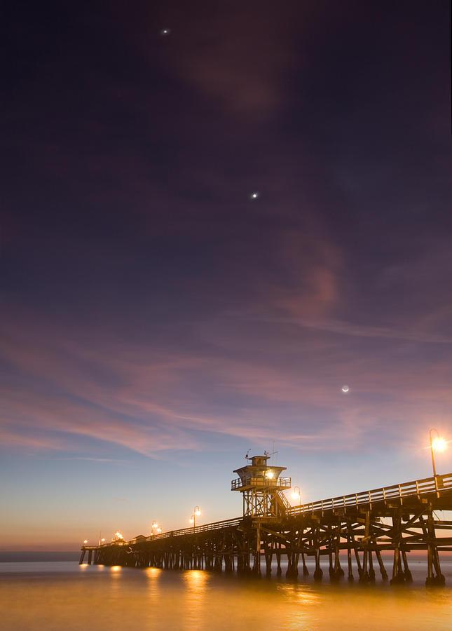 Pier Photograph - Cosmic Alignment by Cliff Wassmann