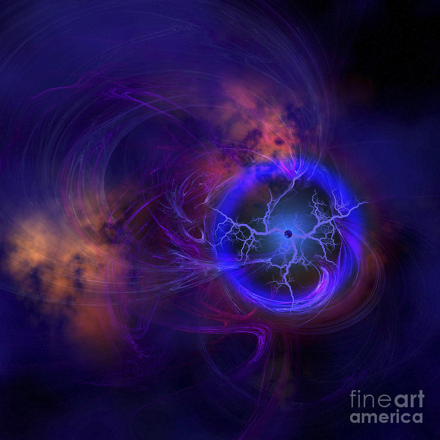 Outer Space Digital Art - Cosmic Forces Out In Space by Corey Ford