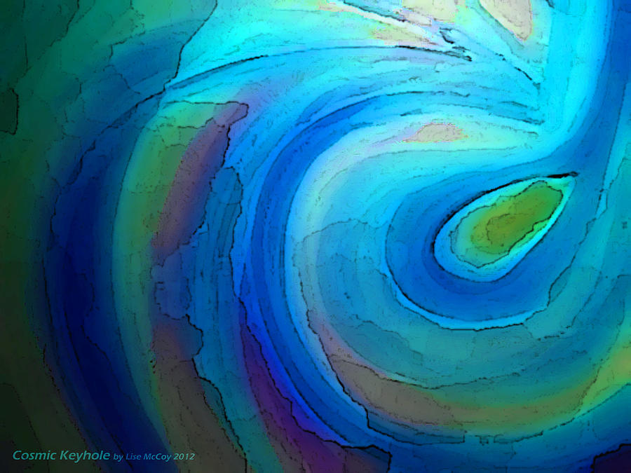 Abstract Swirl Painting - Cosmic Keyhole by AnneLise McCoy