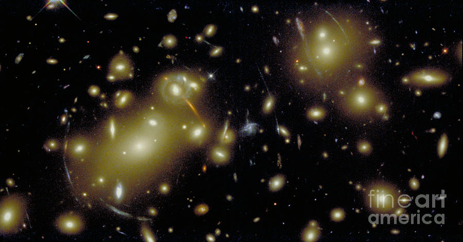 Sky Photograph - Cosmic Magnifying Glass by STScI/NASA/Science Source
