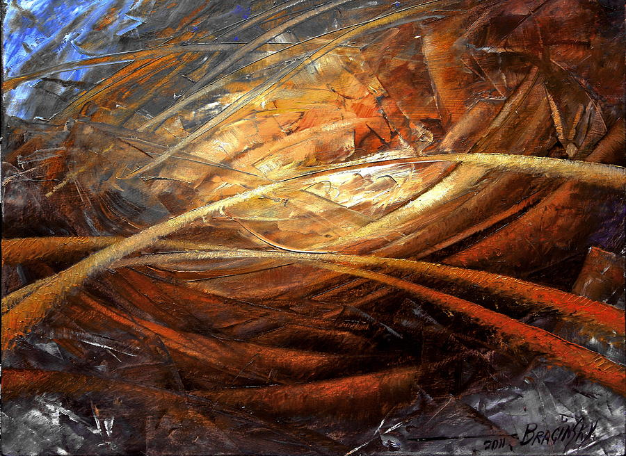 Abstract Painting - Cosmic Strings by Arthur Braginsky