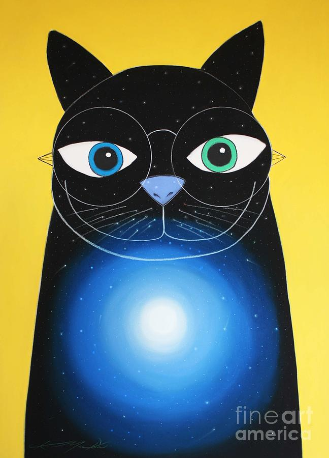Cat Painting - Cosmo by Chris Mackie