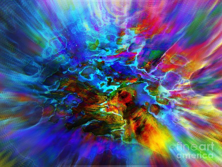 Colorful Digital Art - Cosmos   by Irina Hays