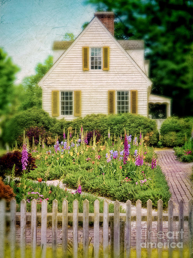 Cottage Photograph - Cottage And Garden by Jill Battaglia