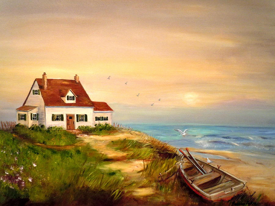 Cottage Sea Painting Barbara Pirkle