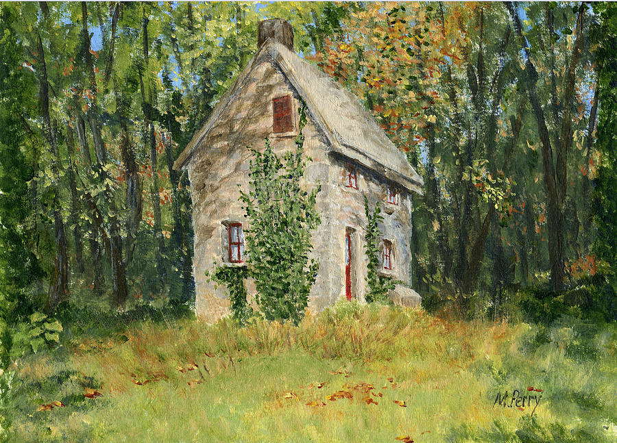 Cottage In The Woods At Fonthill Painting By Margie Perry