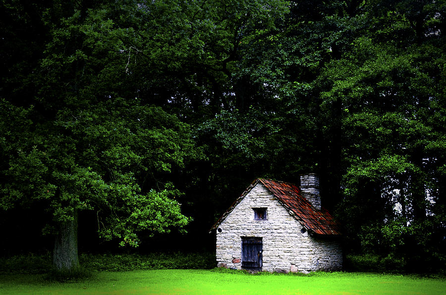 Architecture Photograph - Cottage In The Woods by Fabrizio Troiani
