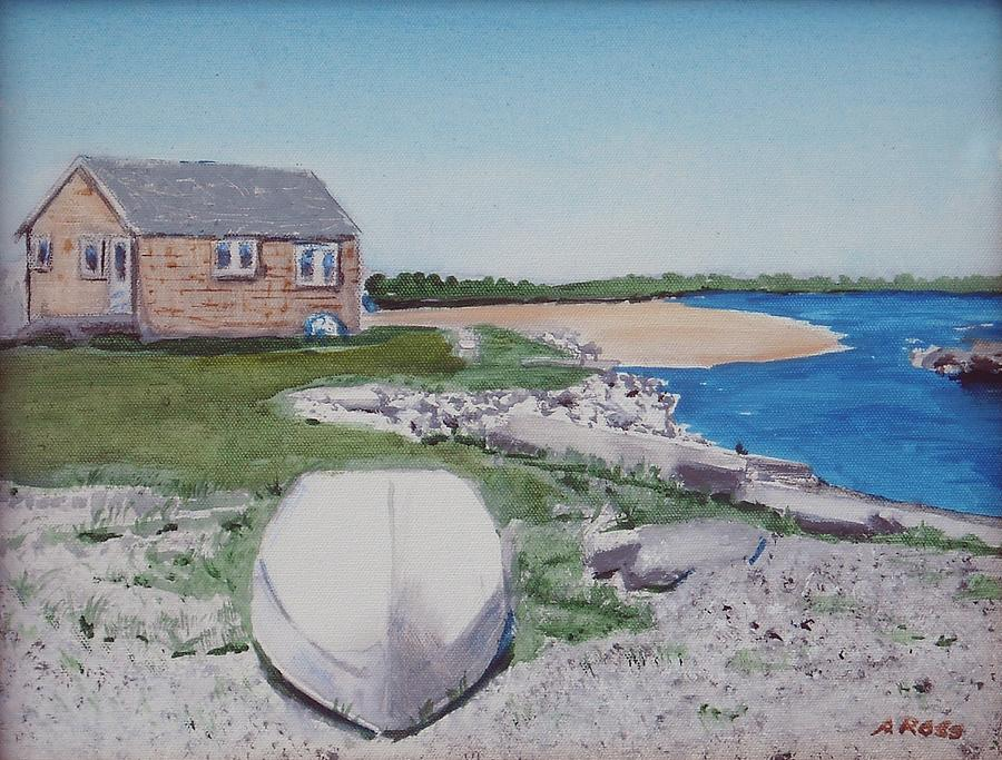 Seascape Painting - Cottage On The Marsh by Anthony Ross