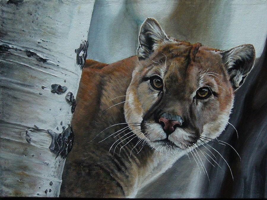 Landscape Painting - Cougar by Oleg Dashevsky