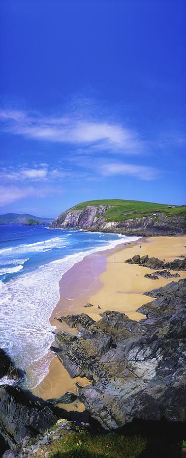 Beach Photograph - Coumeenoole Beach, Dingle Peninsula, Co by The Irish Image Collection