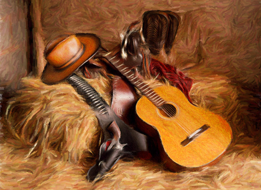 country and western painting digital art by peter g dobson