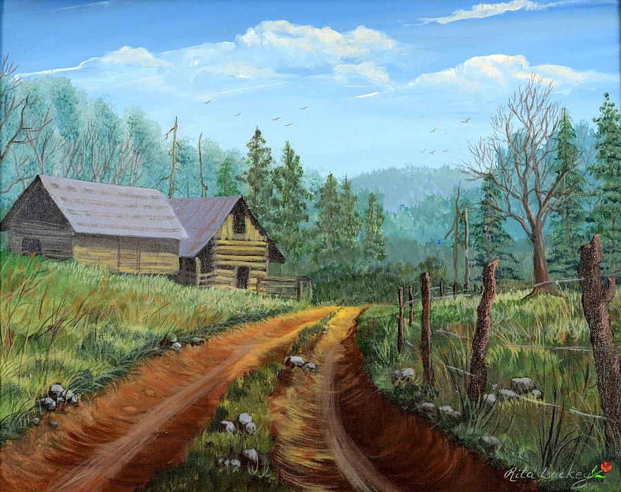 Country back road painting by rita lackey for Road case paint