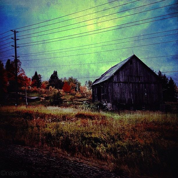 Barn Photograph - Country Blue by Natasha Marco
