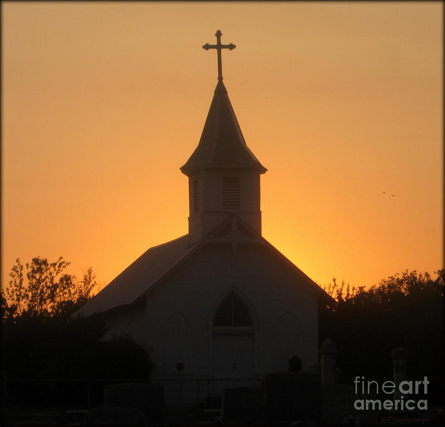 Church Photograph - Country Church by Kim Yarbrough