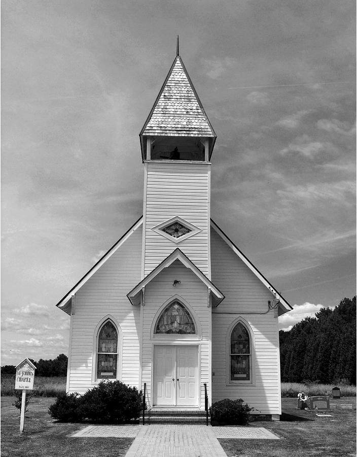 Chapel Photograph - Country Church by Steven Ainsworth