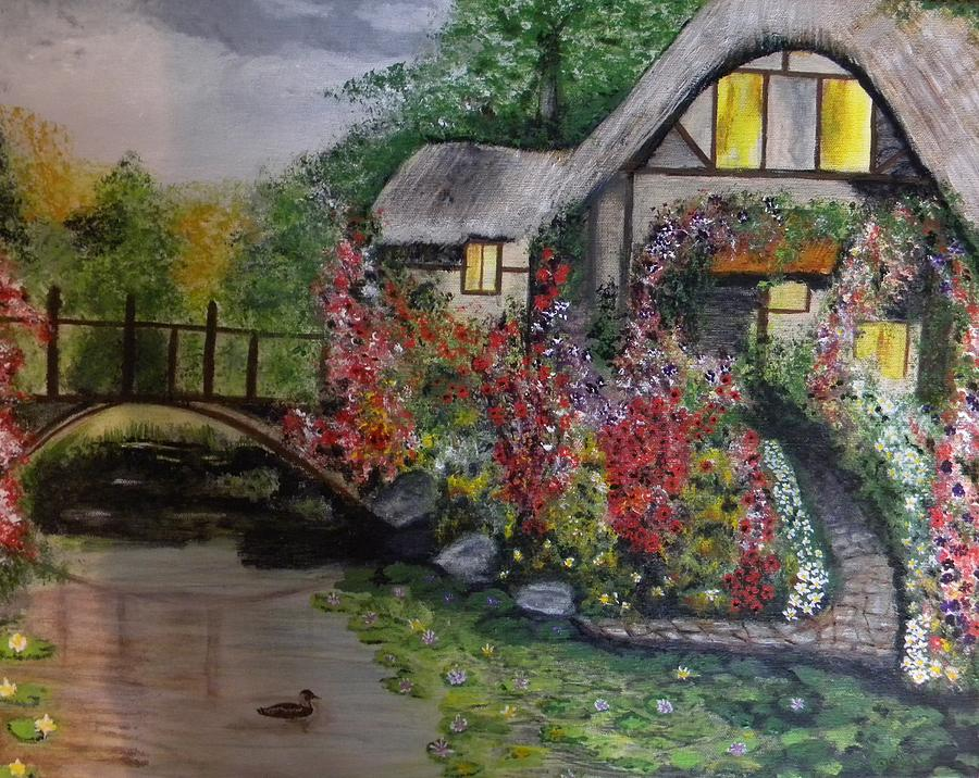 Country Cottage Retreat Painting By Denise Hills