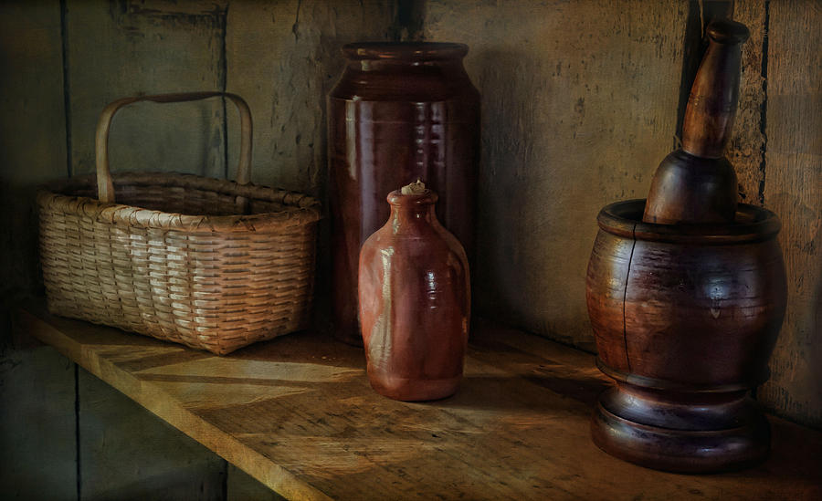 Country Photograph - Country Cupboard by Robin-Lee Vieira