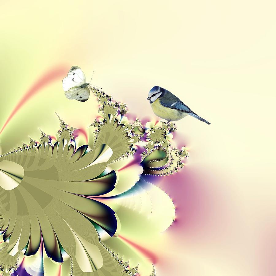 Butterfly Digital Art - Country Garden by Sharon Lisa Clarke