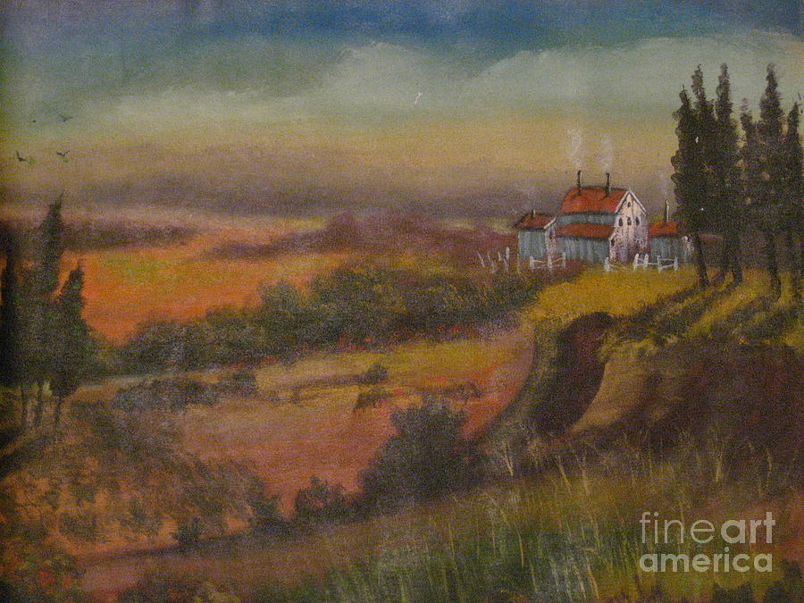 Painting Painting - Country House Rendition by Dwayne Goulbourne