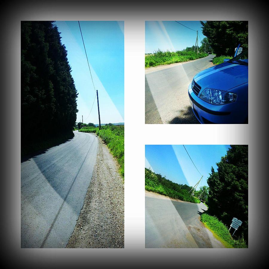 Panoramic Photograph - Country Lane by Jan Steadman-Jackson