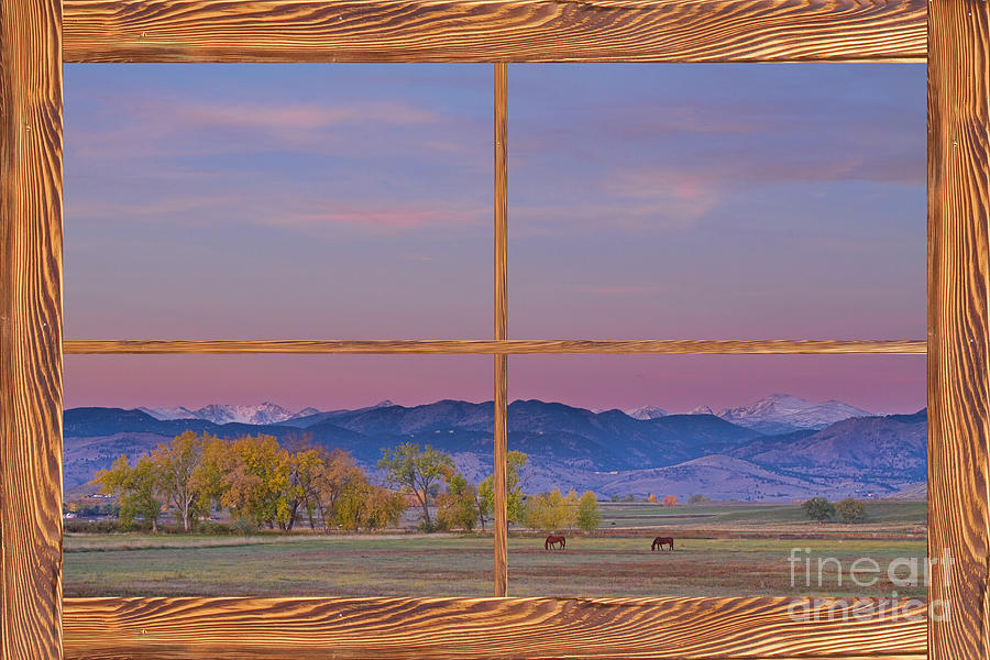 picture photograph country peaceful morning wood picture window frame photo art by james bo insogna