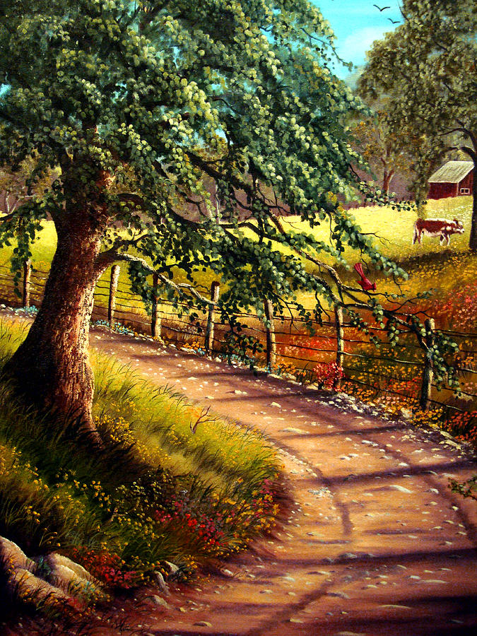 Country Road Painting by David G Paul