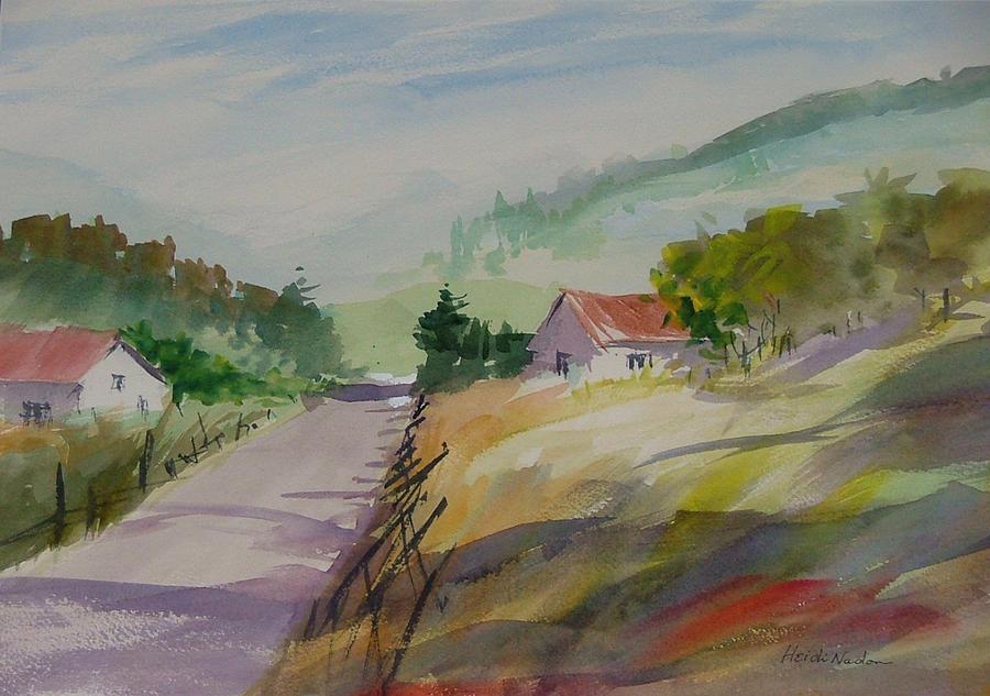 Landscape Painting - Country Road II by Heidi Patricio-Nadon