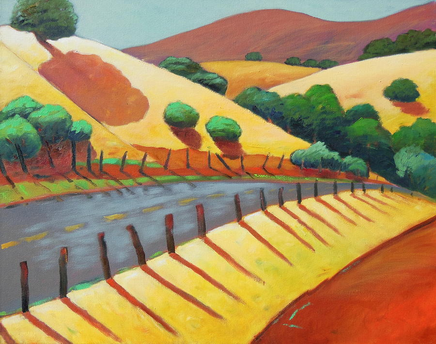 Rural Painting - Country Road Late by Gary Coleman