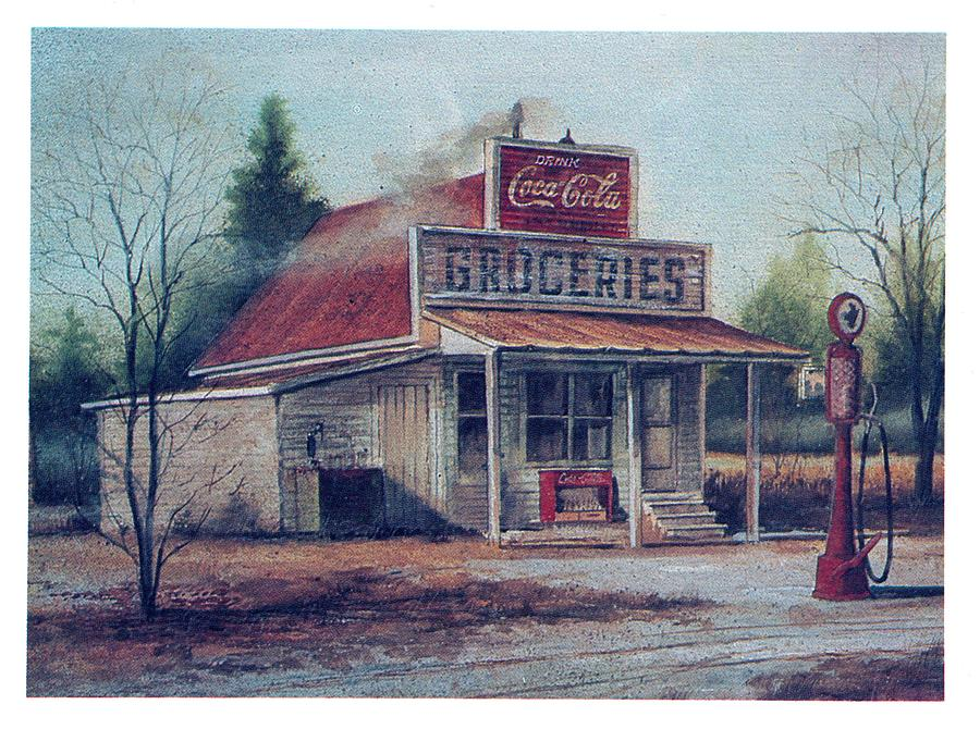 Country Store Painting - Country Store  by Charles Roy Smith