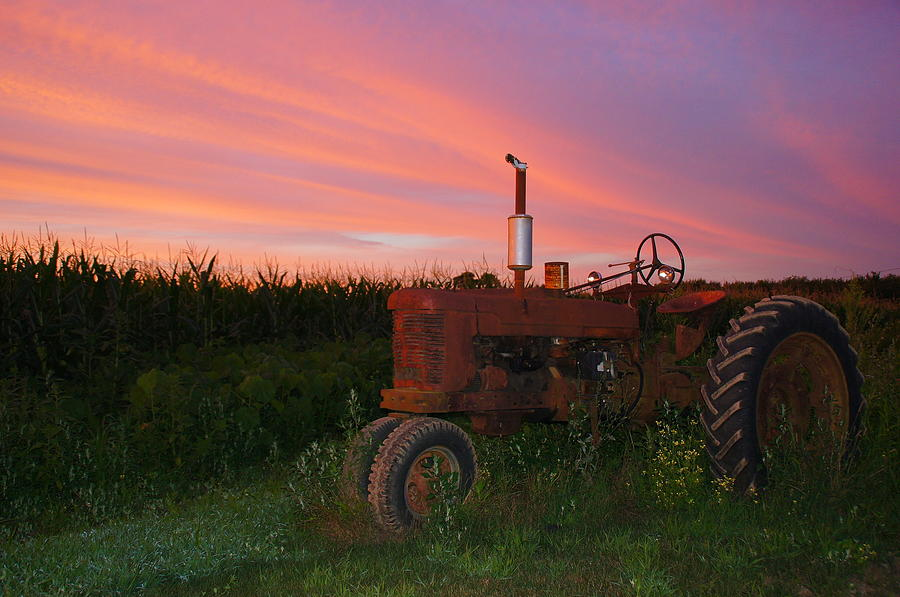 Sunset Photograph - Country Sunset by Corrie McDermott