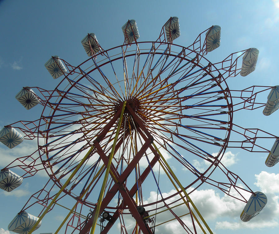 Ferris Wheel Photograph - County Fair by Karen Jordan