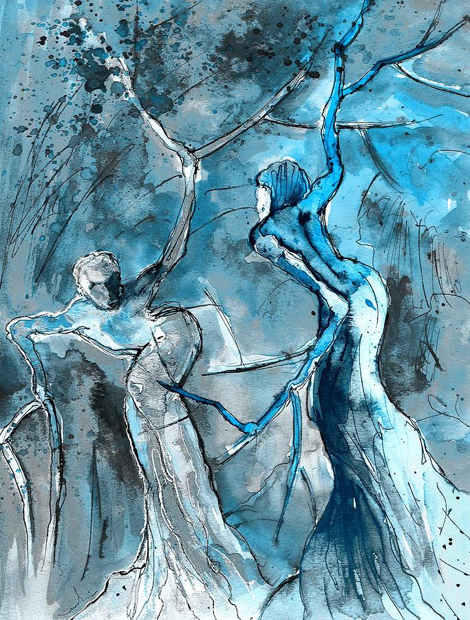 Fantasy Painting - Coup De Tete 02 by Miki De Goodaboom