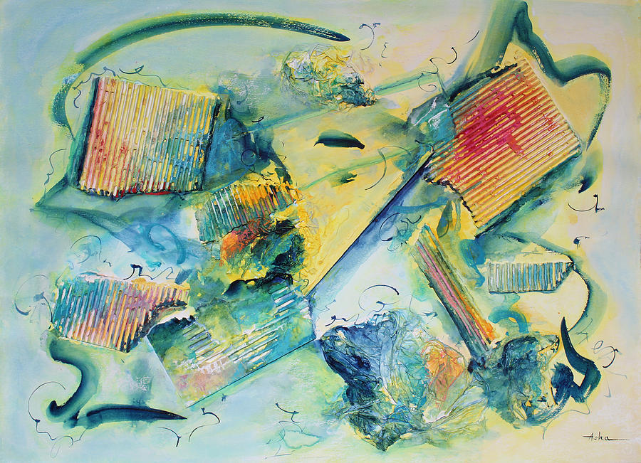 Abstract Painting Painting - Courage Bolstering Strength by Asha Carolyn Young