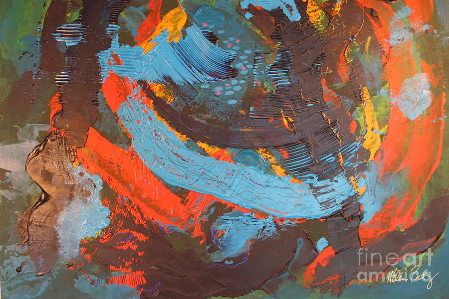 Abstract Expressionism Painting - Courage by Helen Betz