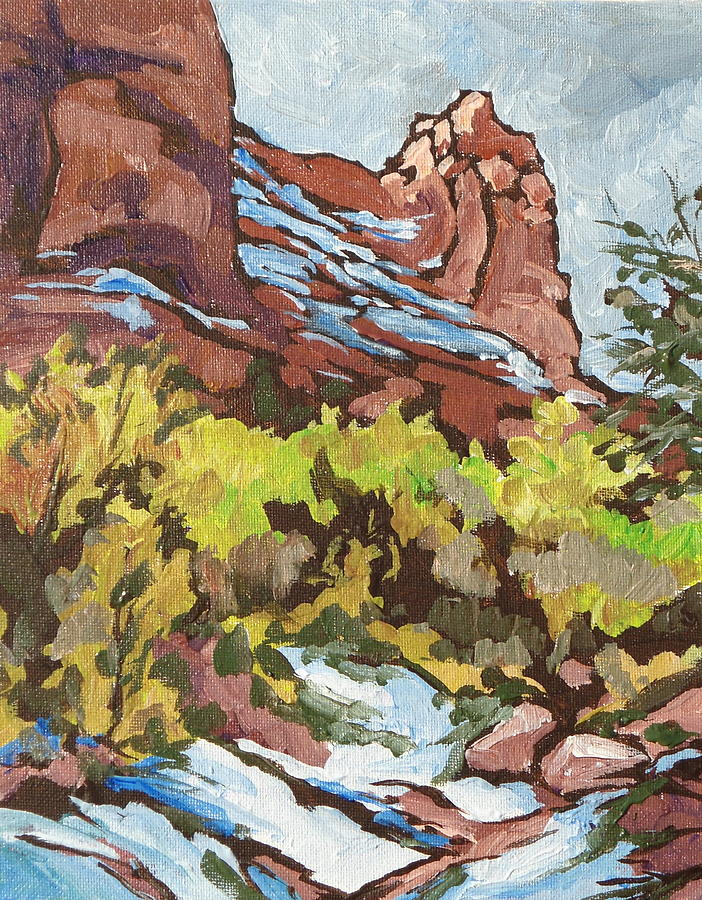 Sedona Painting - Courthouse Rock by Sandy Tracey