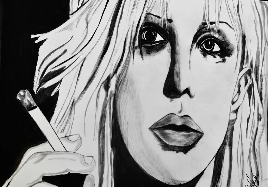 Grunge Scene Painting - Courtney Love by Cat Jackson