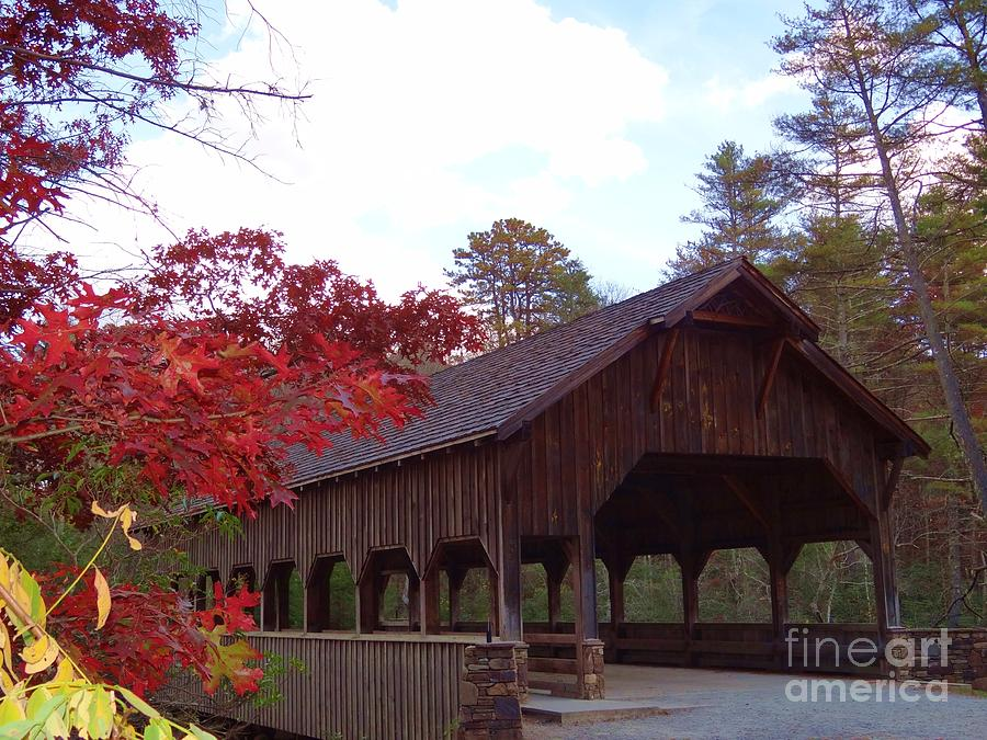 Covered Bridge Photograph - Covered Bridge by Crystal Joy Photography
