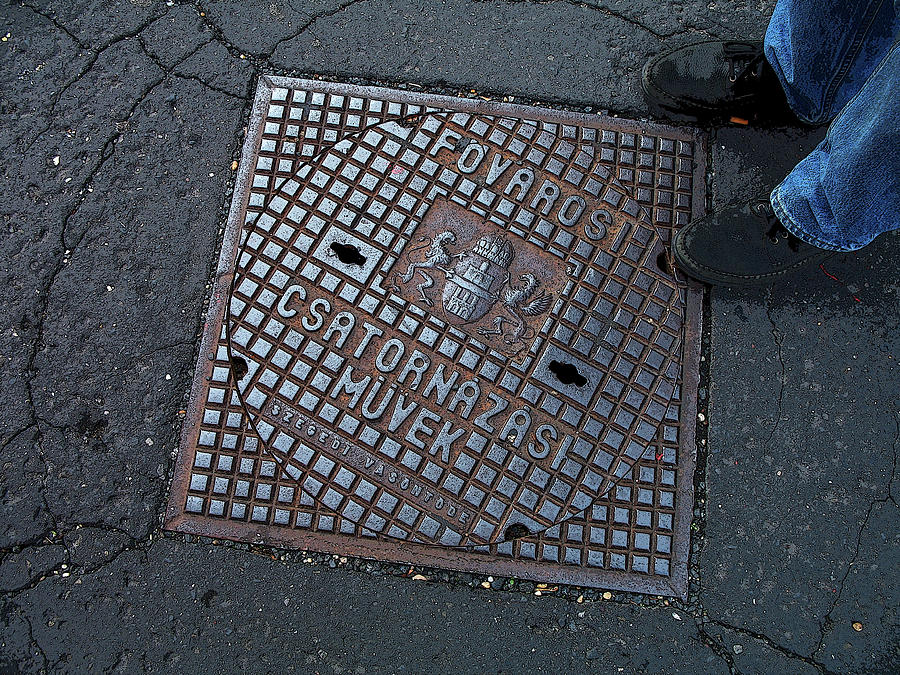 Sewer Photograph - Covered In Hungary by Joanne Riske