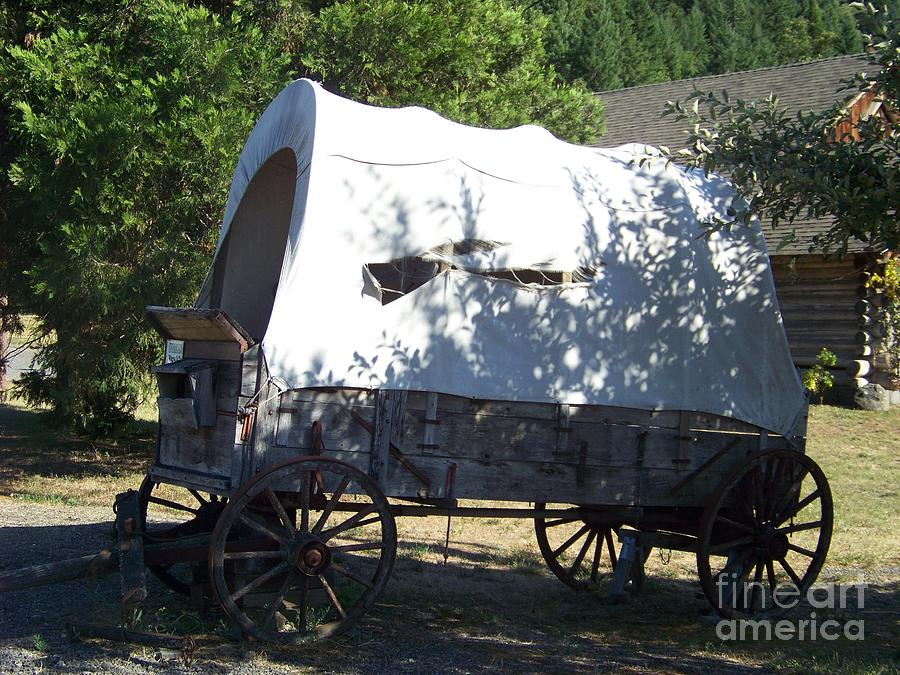 Wagon Photograph - Covered Wagon by Charles Robinson