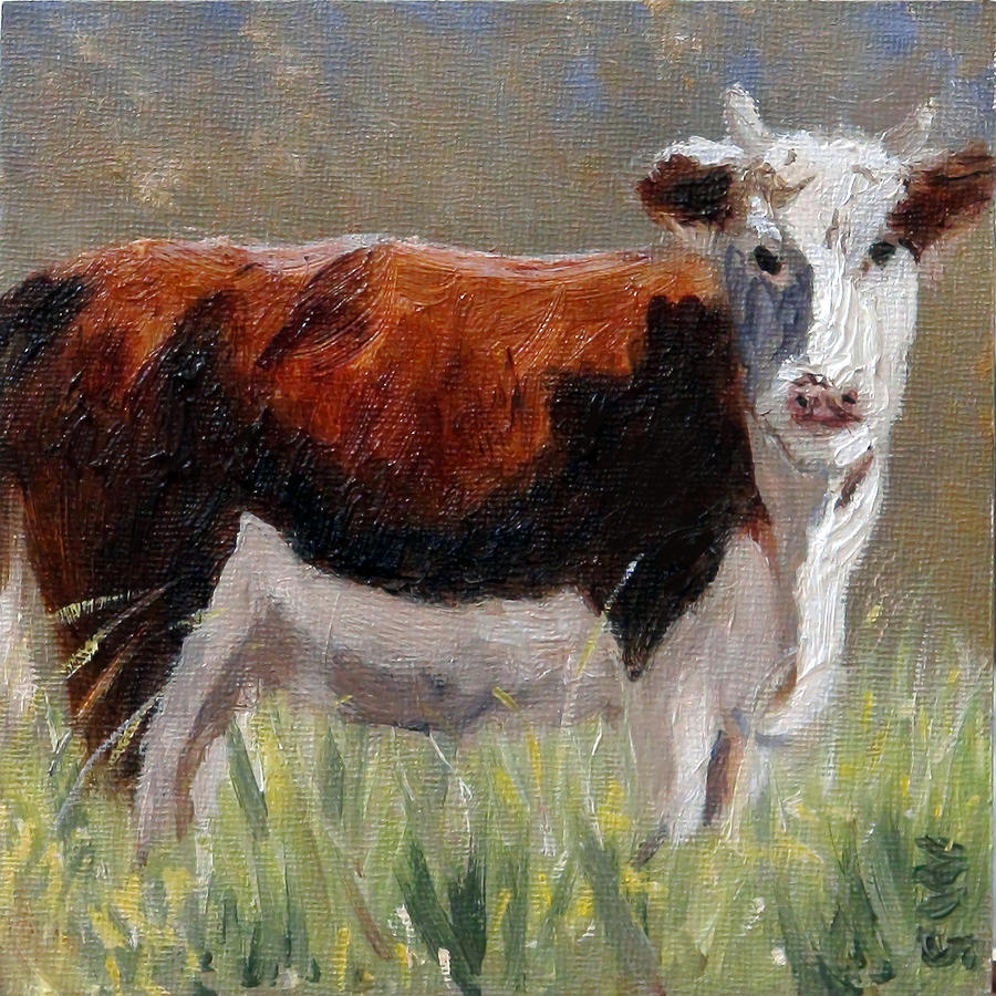 Cow in the Meadow by Gaye White